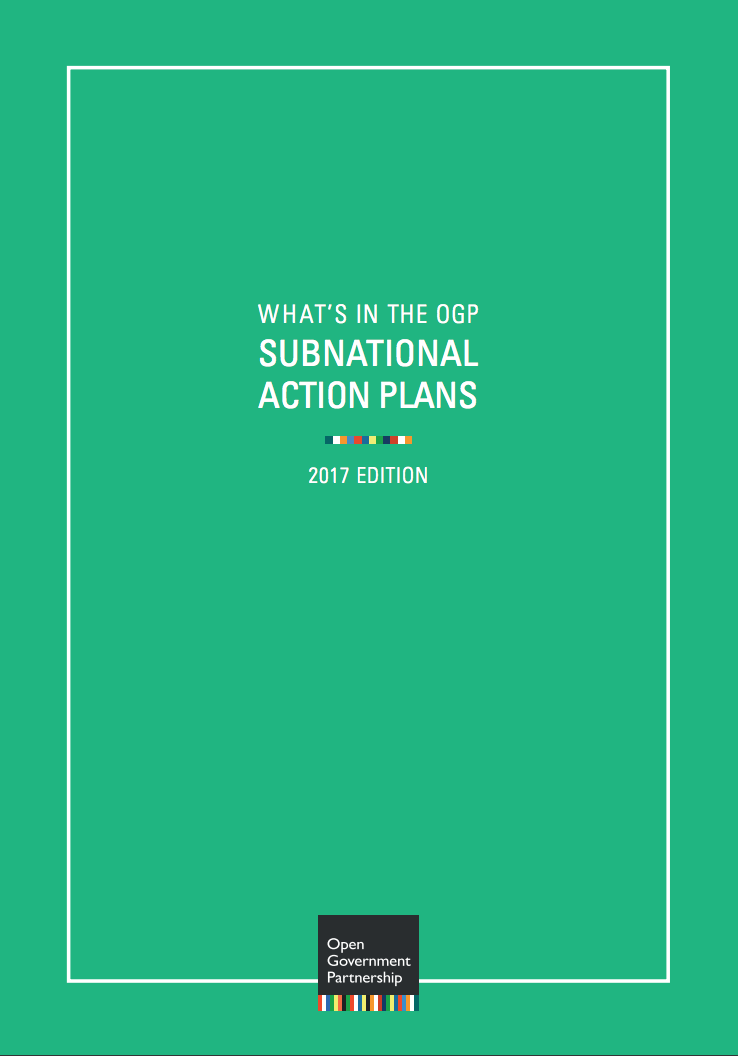What's in the OGP Subnational Action Plans