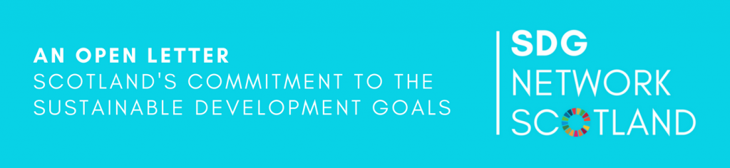An Open Letter Scotland's Commitment to the Sustainable Development Goals